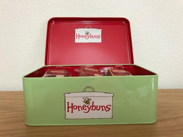 「英国フェア2019」で買ったHoneybunsの缶