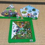 DWE「クエスチョン&アンサーカード」三角形、四角形、五角形の形をしたカード
