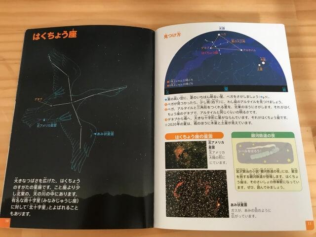 ハッピーセット図鑑「星と星座〜夏の星空」のはくちょう座