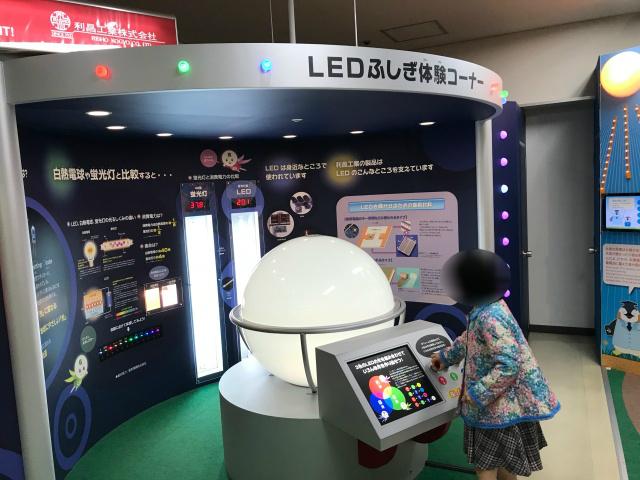 大阪科学技術館「利昌工業のLEDエリア」