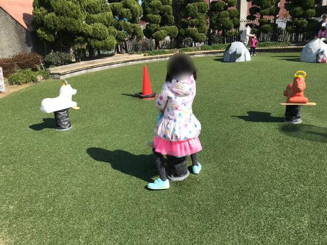 「川俣スカイランド」幼児広場・動物の乗り物