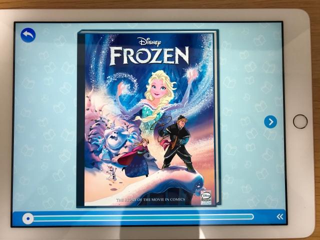 rakuten ABCmouse(楽天ABCマウス)「アナと雪の女王(Frozn)」のデジタル英語絵本(表紙)