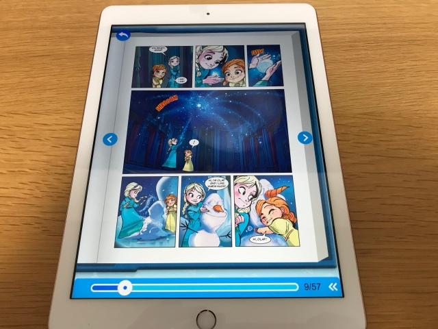 rakuten ABCmouse(楽天ABCマウス)「アナと雪の女王(Frozn)」のデジタル英語絵本(とある1ページ)