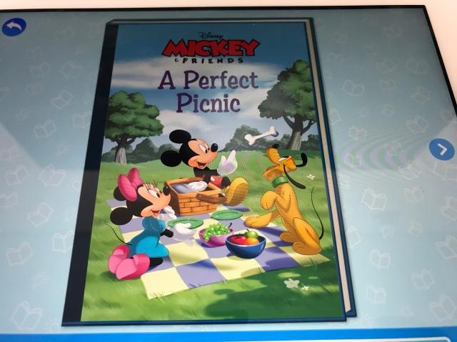 rakuten ABCmouse(楽天ABCマウス)「アナと雪の女王(Frozn)」のデジタル英語絵本(ミッキー表紙)