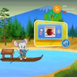 「楽天ABCマウス」メイン画面の保護者ボタン