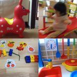幼児と家遊び(ロディ、ジャングルジム付き滑り台、ひも通し、子供用キッチン)