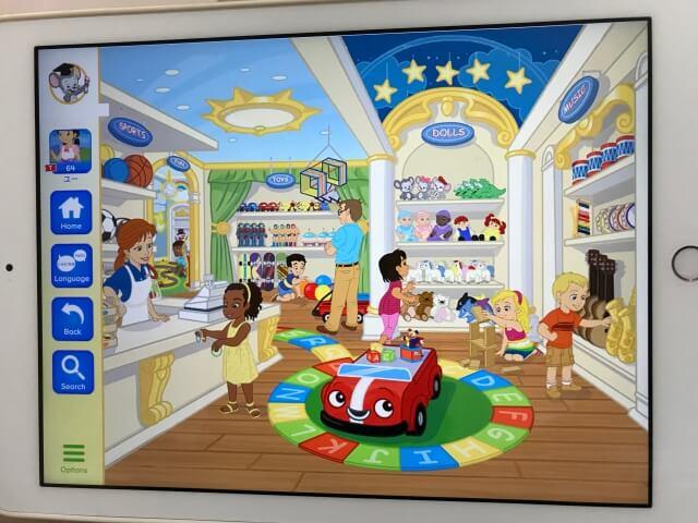 「楽天ABCマウス(Rakuten ABCmouse)」ショッピングモールのおもちゃ売り場