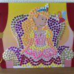 ボーネルンド「スティッキーモザイク・プリンセスのものがたり」完成したので部屋に飾っている