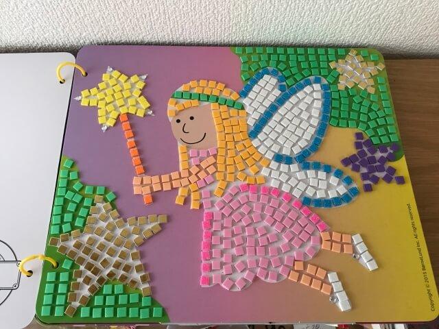ボーネルンド「スティッキーモザイク・プリンセスのものがたり」完成・3枚目