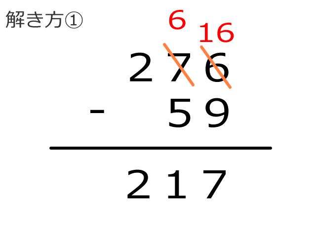 繰り下がりの引き算の解き方1