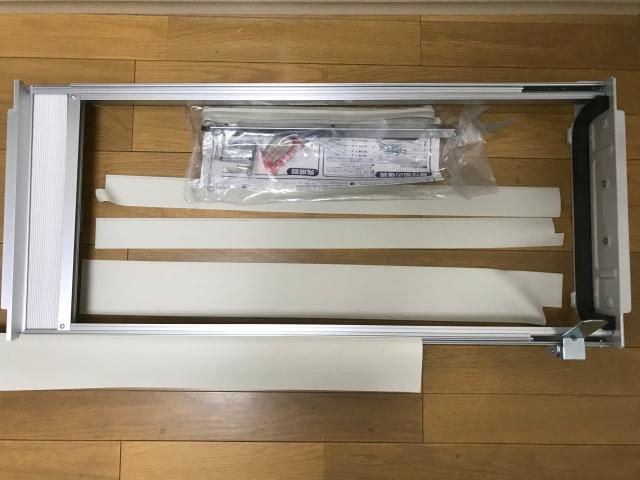 コロナ窓用エアコンの取付枠