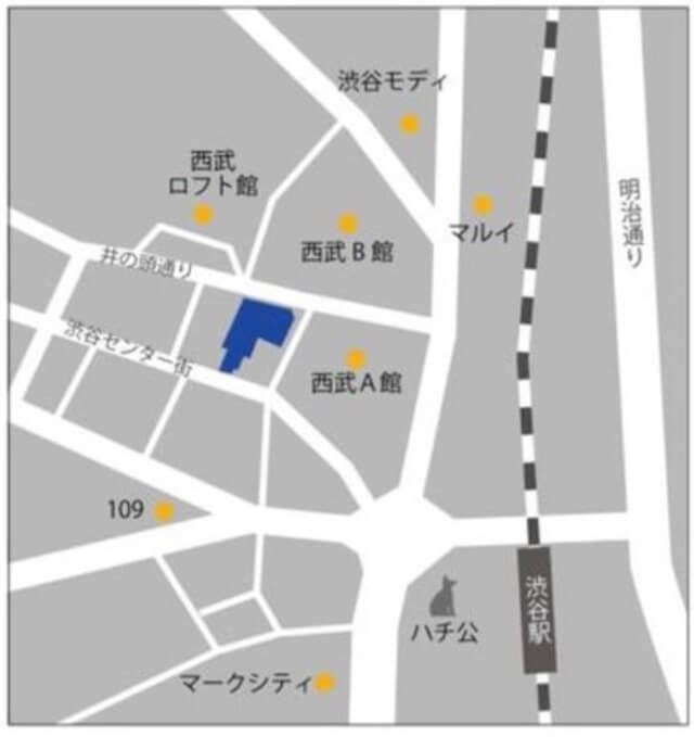 IKEA渋谷地図