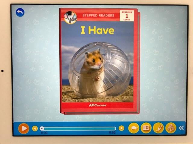 「楽天ABCマウス(ABCmouse)」「I have」という読み聞かせ英語絵本