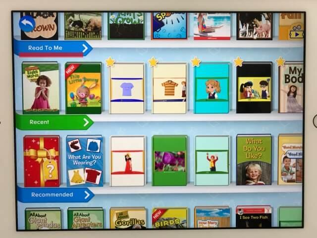 「楽天ABCマウス(ABCmouse)」図書館に並ぶデジタル英語絵本