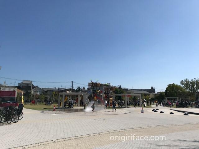 大枝公園「水の遊び場」