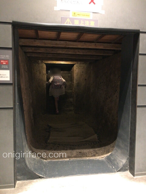 「ピースおおさか大阪国際平和センター」防空壕体験