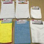100均ダイソー(Daiso)で買った雑巾6種類