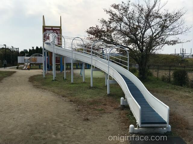 「西弓削公園」ローラー滑り台