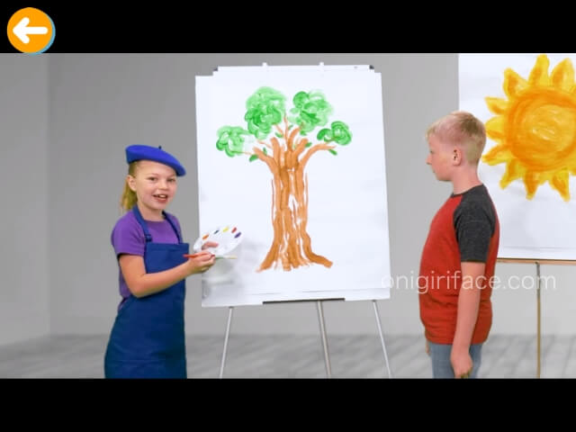 「楽天ABCマウス」子供たちが話をしている場面