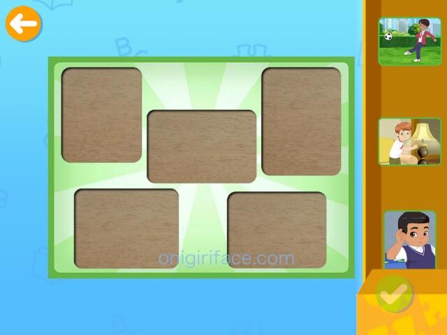 「楽天ABCマウス」パズル画面