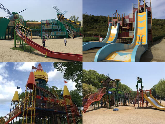 大阪の公園ランキング(蜻蛉池公園・彩都なないろ公園・大泉緑地・錦織公園の遊具)