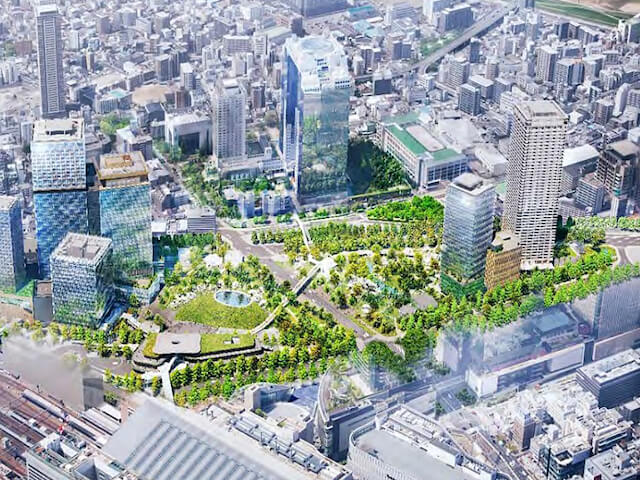 うめきた都市公園全体イメージ図