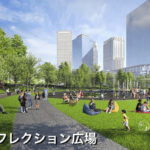 うめきた都市公園(南側・リフレクション広場)