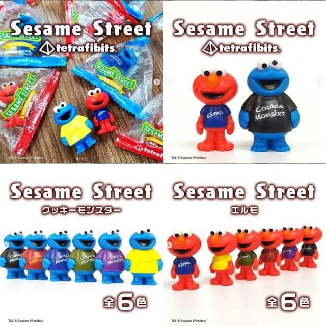 ダイソー「おもちゃ2021」セサミストリート人形(エルモ・クッキーモンスター)