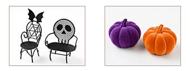 セリア「ハロウィングッズ2021」ミニチェア、かぼちゃのオブジェ