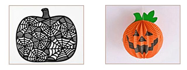 セリア「ハロウィングッズ2021」かぼちゃのソフトマット・ハニカムボール