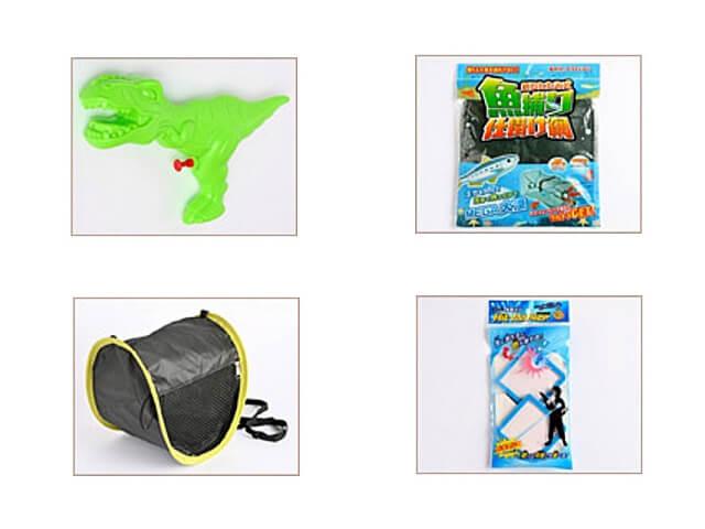 セリア「夏グッズ2021」虫かご、水鉄砲、魚とり仕掛け網