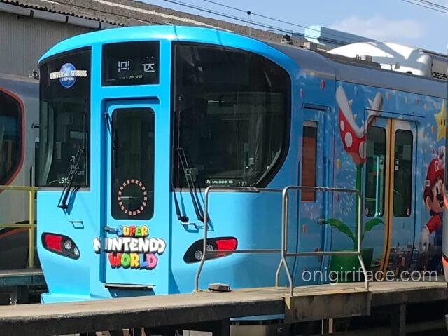USJマリオ「スーパーニンテンドーワールド」ラッピング電車(先頭車両)