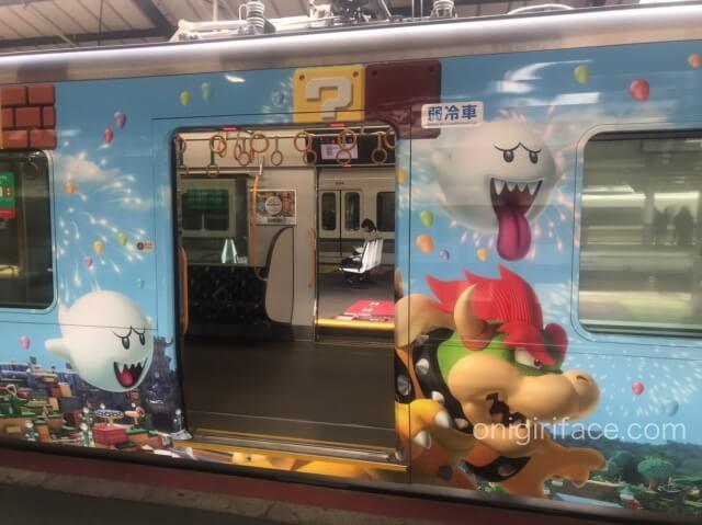 USJマリオ「スーパーニンテンドーワールド」ラッピング電車(テレサ、クッパ)