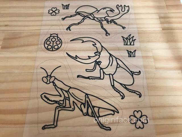 ダイソープラバン・イラスト入りプラバンキュコット「こんちゅう(昆虫)」
