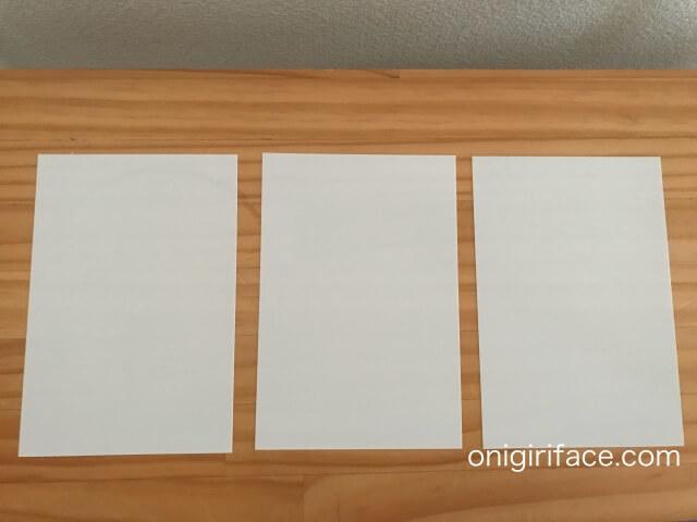 100均キャンドゥ(Cando)「プラバン フロスト(ホワイト)インクジェットプリンター用」表面3枚