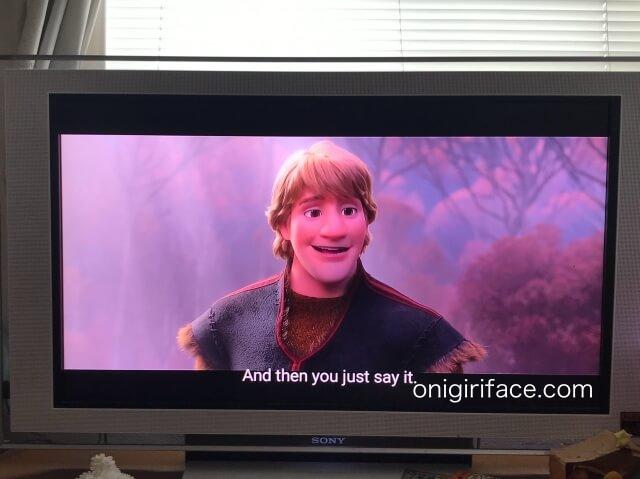 ディズニープラスの映画「アナと雪の女王2」の英語字幕